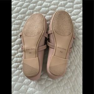 Zara Shoes - Zara Girls Pink Blush Jeweled Ballet Flats